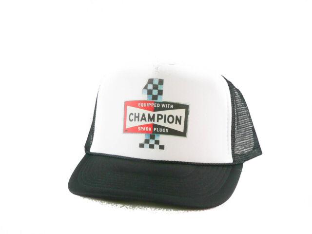 6b34acc2eedc4 Champion Spark Plugs Hat Trucker Hat Mesh Hat Snapback Hat Black for ...