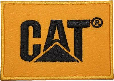 CAT Caterpillar Inc. Logo Embroidered Patch Badge 9cm Patch Wide Iron or Sew on