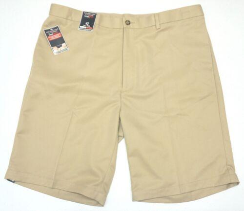 NWT $46 Roundtree /& Yorke Tan Classic Fit Shorts Mens 46 42T Flat Travel Smart
