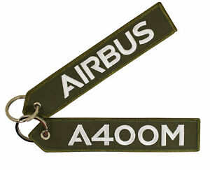 Schluesselanhaenger-Airbus-A400M-oliv-gruen-16cm-lang-Keyring-A400-olive-green
