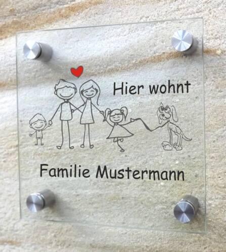 """Lustiges Wohnungsschild Witzig Display /""""deine Familie/"""" türschild Comic 20x20"""