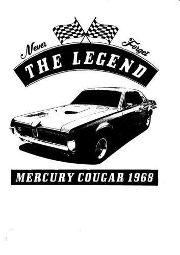 T-Shirt,Mercury Cougar 1968 US Car Auto,Oldtimer,Youngtimer