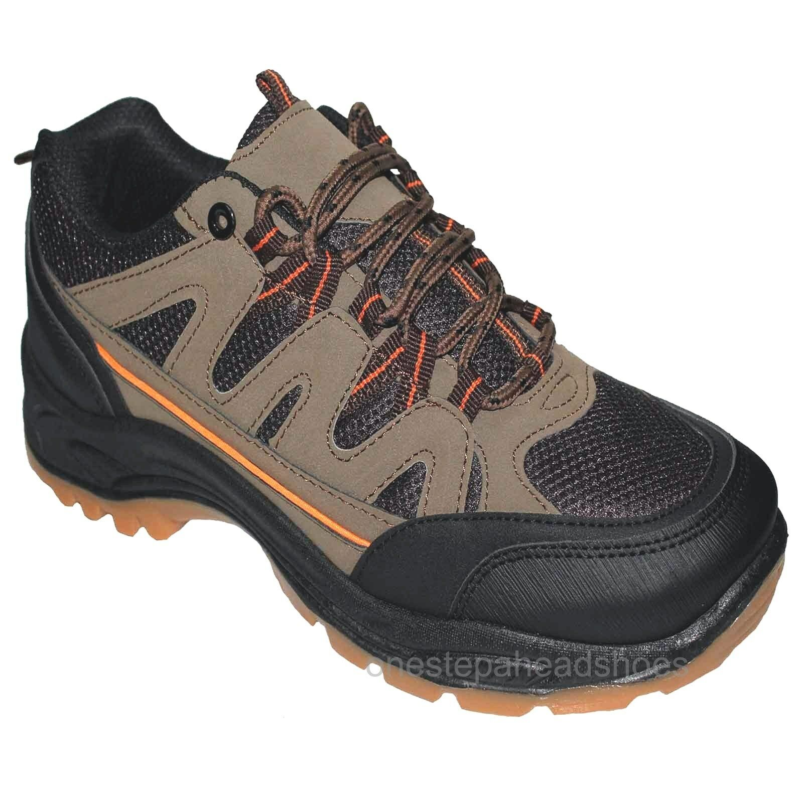 new mens KHAKHI rugged Lace Up Trail Walking Hiking Shoes Trainers size 9/43
