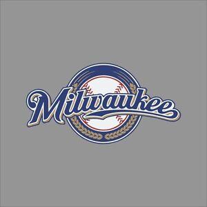 Milwaukee Brewers MLB Team Logo Vinyl Decal Sticker Car Window - Custom vinyl decals milwaukee