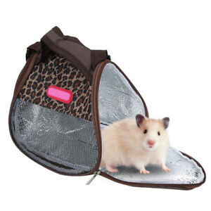 Leopard-Pet-Small-Animal-Carrier-Bag-Travel-Warm-Bag-Hamster-Guinea-Pig-Pouch