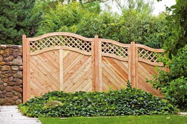 Sichtschutzzaun SKAGEN LÄRCHE Gartenzaun Zaun Sichtschutz Holz Lärche