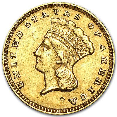 $1 Indian Head Gold Coin - Random Year - Type 3 - Extra Fine - SKU #4028