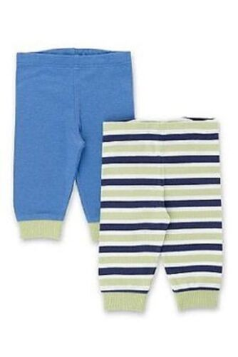 Two pair pack of 100/% cotton jogger bottoms blue and striped new from M/&S