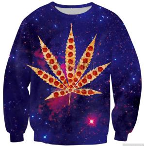 Funny Weed Pizza Galaxy 3D Print casual SweaterMen Women Sweatshirt Hoodies Tops