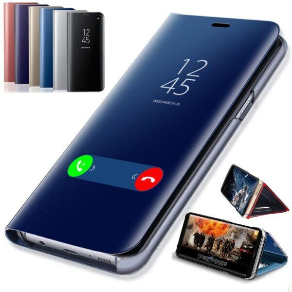 Coque Rabat Miroir Clear View Pour Samsung Galaxy S10 S10+ S10e S9 S9+ A50 A7 A9 Avec Les éQuipements Et Les Techniques Les Plus Modernes