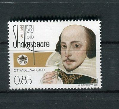 Vaticano 2014 450° anniversario nascita di William Shakespeare MNH