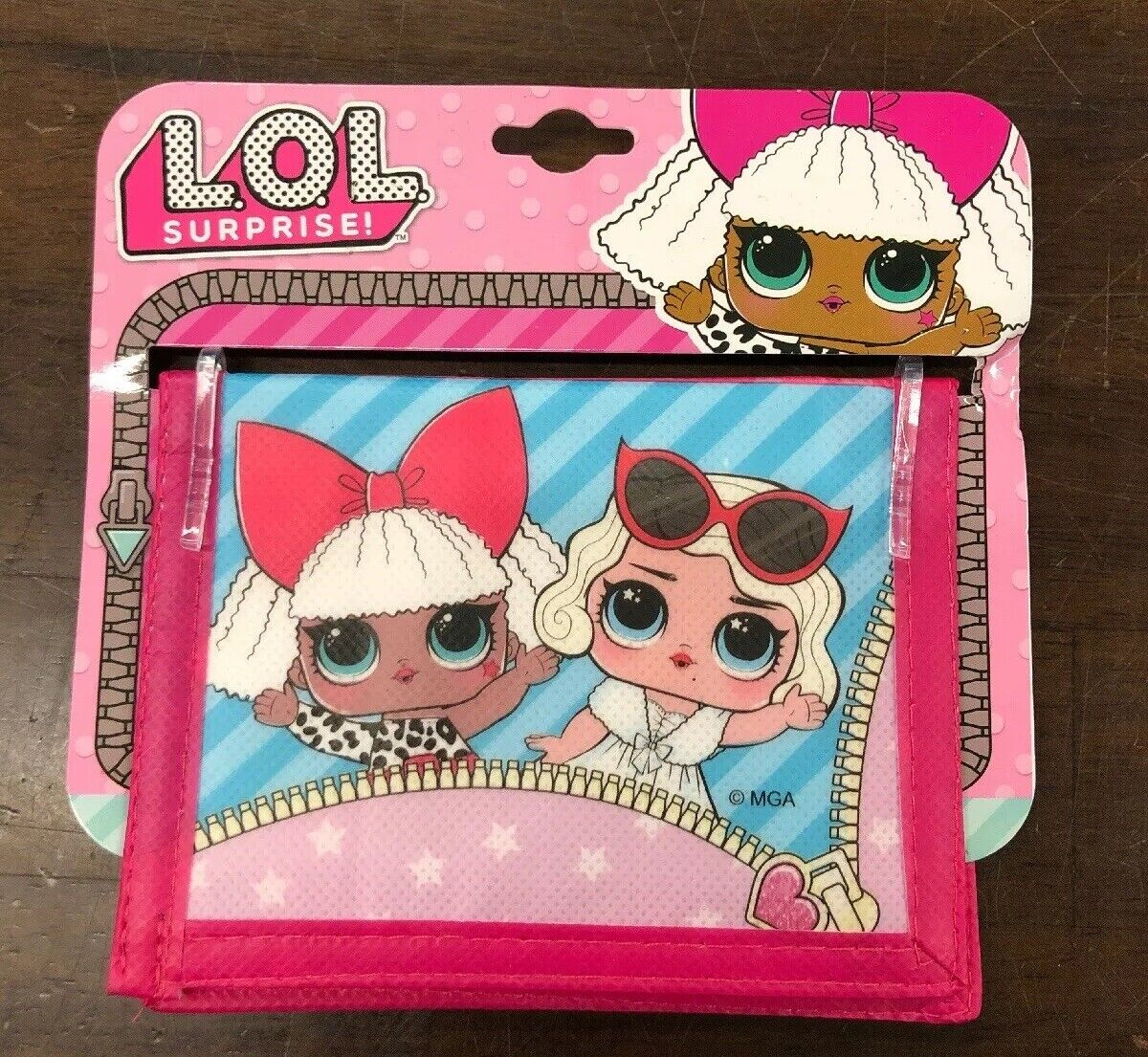 LOL Surprise Vinyl Bifold Wallet with 4 Card Slots & 1 Money Slot for Kids *New