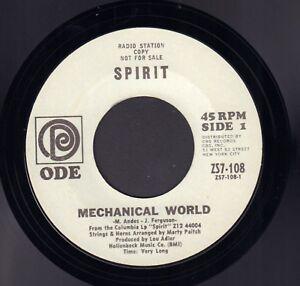 SPIRIT-Mechanical-World-Uncle-Jack-1968-RARE-US-PROMO-PSYCH-SINGLE-7-034