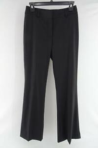 Womens-Burberry-London-Black-Trousers-Size-UK-4-US-2-Wool-Dress-Pants-Stretch