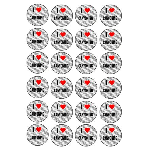 Craft Reward Party Bag Stocking Fillers I Love Canyoning 24 Stickers