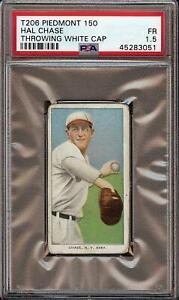 1909-11 T206 Hal Chase Throwing White Cap Piedmont 150 New York PSA 1.5