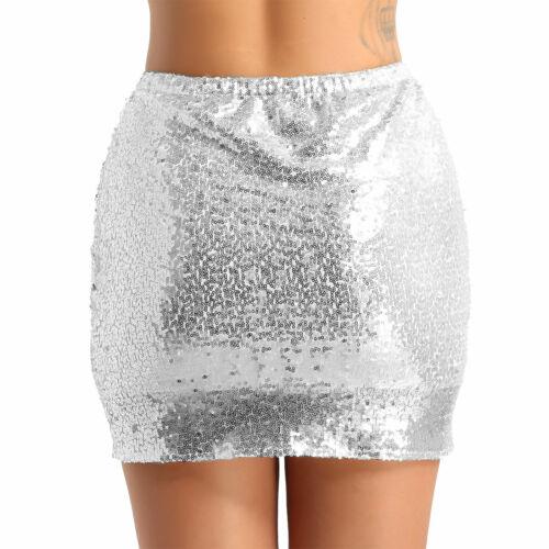 Women Lady Sequins Skirt High Waist Bodycon Skirts Mini Skirt Short Pencil Skirt