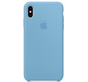 iPhone-XS-Max-Apple-Echt-Original-Silikon-Huelle-Silicone-Case-Kornblume