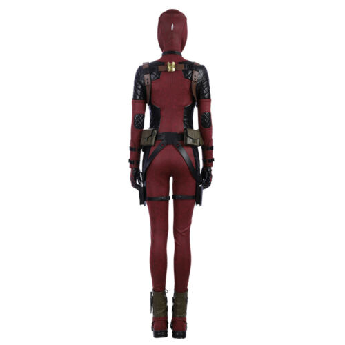 DFYM Lady Women Deadpool Cosplay Costume Deluxe Full Suit Custom Made Any Size