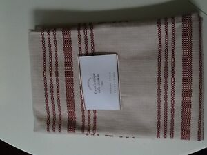 Pottery Barn French Stripe Cafe Curtains Red Sold Out