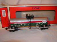 Lionel 6-83308 Christmas North Pole Central Lines Unibody Tank Car O-27
