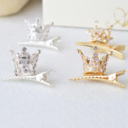 Pretty Kids Girls Crowns Hair Clip Hairpins Princess Headwear Hair Accessories