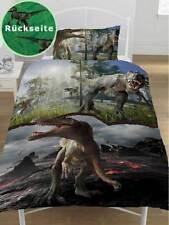 Bettwäsche Dinosaurier Jurassic World Kinderzimmer 135x200/50x75 - SONDERPREIS