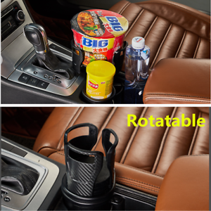 Carbon Fiber Car Cup Holder Rotatable Cell Phone Sunglasses Stand Accessories