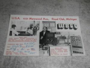 carte QSL ancienne ROYAL OAK USA 1956 états unis... wFUIdNJ1-09090535-250878352