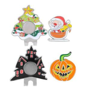 Christmas-Halloween-Golf-Hat-Clip-with-Magnetic-Ball-Marker-Metal-Golfer-Gift
