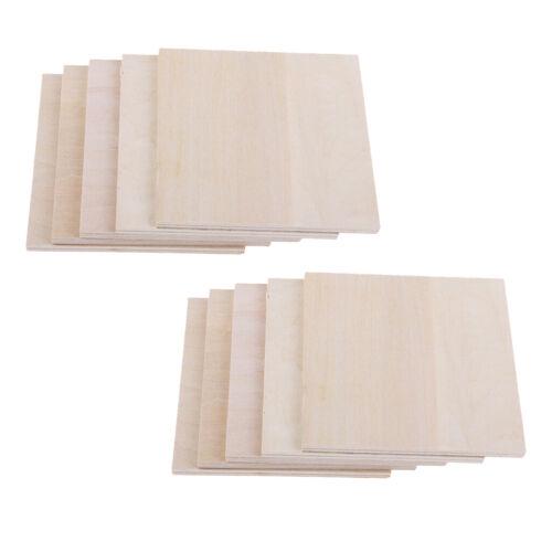 20 Stück DIY Modell Balsaholz Holzplatte Bastel Modell 100x100x1,5mm