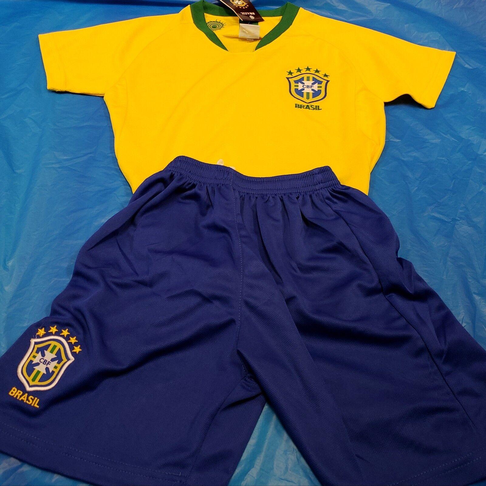 New  Brazil Uniformes para equipos Medias, Short, Jersey y Numero Youth