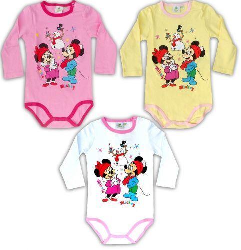 Disney Minnie Mickey Mouse Kinderbody Babybody Unterwäsche Weihnachtsbody