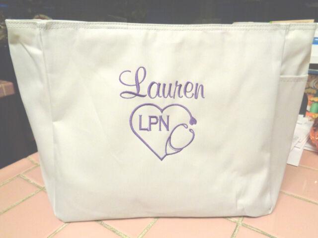 1 Tote Bag Nurse Dr Rn Lpn Cna Hospital Medical Work Gift Ma Nurses