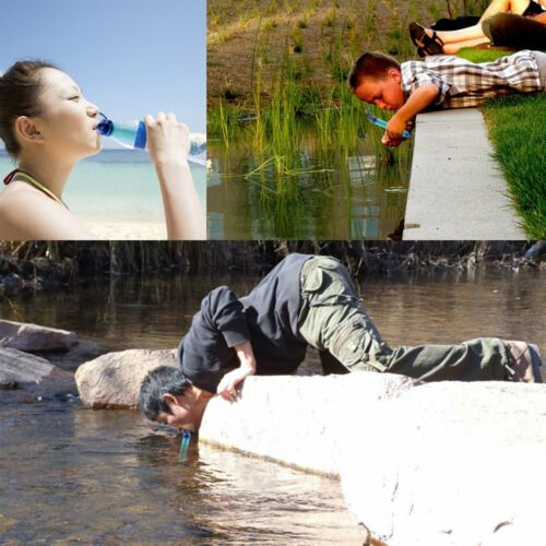 Military 99.99/% Water Filter Purification Emergency Gear Straw Camping Hiking UK