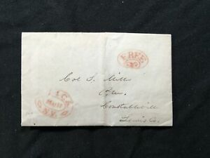 Stampless Entire 1836 Utica NY ASCC $15 Possible cool Context