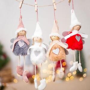 1X-Angelo-di-Natale-Carino-Giocattolo-Peluche-Bambola-Ciondoli-Albero-Natale-Decorazioni-Festa-Decor