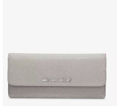 11cd7452585ebf Michael Kors Jet Set Travel Pearl Grey Flat Wallet Mp705 for sale ...