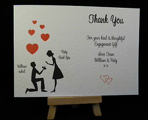 personalised handmade engagement thank you cards ebay