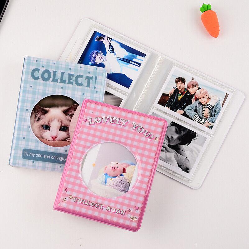 64 pocket 3 inch photo album card holder storage hollow love photo holder