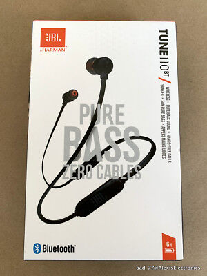 NEW JBL TUNE110BT T110BT WIRELESS IN-EAR HEADPHONES PURE BASS COLOR: BLACK  50036355506 | eBay