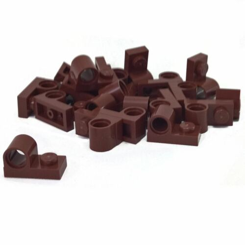 20 NEW LEGO Reddish Brown Plate Modified 1 x 2 with Pin Hole on Top