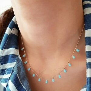 AAA-QUALITY-925-STERLING-SILVER-HANDMADE-JEWELRY-TURQUOISE-DROP-NECKLACE