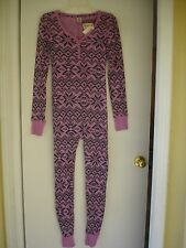NWT Victoria's Secret Pink Thermal Long Jane Onesie Pajama PJ L isle one piece