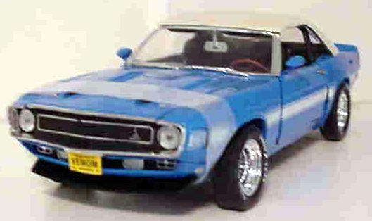 1969 SHELBY GT350 bleu top Up Convertible Comme neuf Series 1 18 Ertl 32073