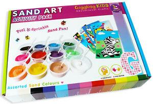 Image Is Loading Girls Sand Art Kids Craft Kit 22 Designs