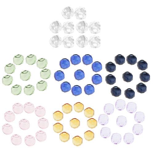 10Pcs vacío Facetado Bola de Cristal Colgante Colgantes Encantos viales deseando botellas