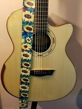Soldier Brand Cute Printed Guitar Strap SUNFLOWERS FREE USA SHIPPING!