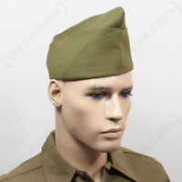 Ww2 Us Px Type Garrison Cap - No Piping - Repro Military Army Usa American Hat