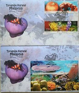 Malaysia FDC with Miniature Sheet & Stamps (28.06.2013) - Living Corals